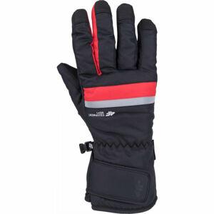 4F SKI GLOVES červená M - Lyžařské rukavice