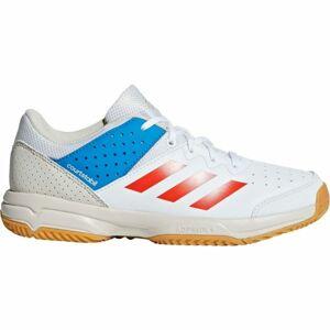 adidas COURT STABIL JR bílá 5 - Dětská házenkářská obuv