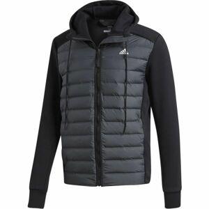 adidas VARILITE HYBRID tmavě šedá M - Pánská bunda