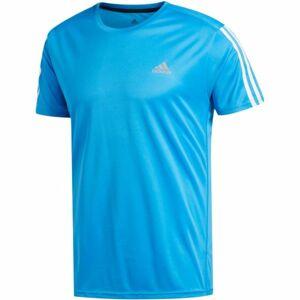 adidas RUN 3S TEE M modrá S - Pánské tričko
