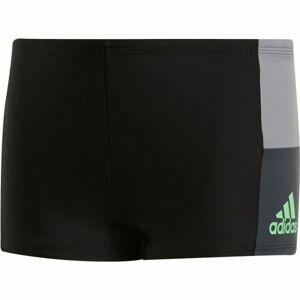 adidas INF CB BX B šedá 164 - Chlapecké plavecké šortky