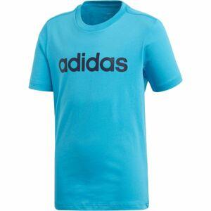 adidas YB E LIN TEE modrá 116 - Chlapecké triko