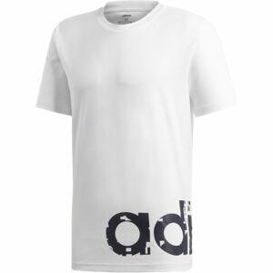 adidas M GRFX LNR TEE 2 bílá XL - Pánské tričko