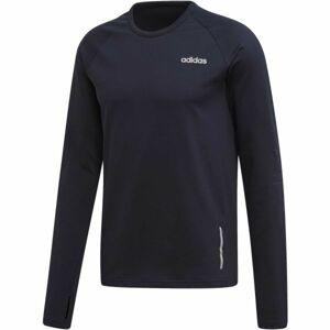 adidas MENS GEAR UP LONGSLEEVE TEE tmavě modrá 2XL - Pánské tričko