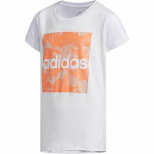 adidas YG CAMO TEE bílá 116 - Dívčí tričko