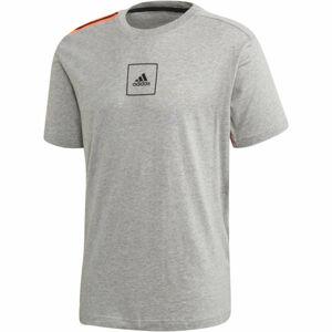 adidas 3S Tape Tee šedá XL - Pánské tričko