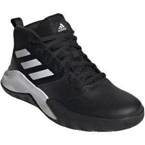 adidas OWNTHEGAME K WIDE černá 3.5 - Dětské volnočasové tenisky