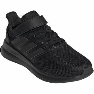 adidas RUNFALCON C černá 35 - Dětská běžecká obuv