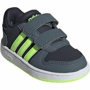 adidas HOOPS 2.0 CMF I zelená 22 - Dětské volnočasové tenisky