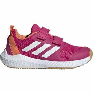 adidas FORTAGYM CF K růžová 31 - Dětská sálová obuv