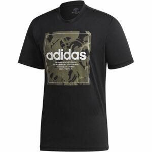 adidas CAMO BX T černá M - Pánské tričko
