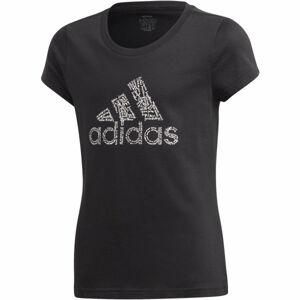 adidas YG BADGE OF SPORT TEE  128 - Dívčí tričko