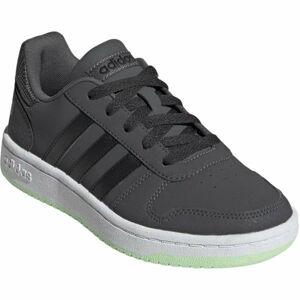 adidas HOOPS 2.0 K šedá 6 - Dětská volnočasová obuv