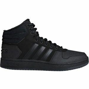 adidas HOOPS 2.0 MID černá 10 - Pánské volnočasové boty