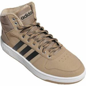 adidas HOOPS 2.0 MID béžová 9 - Pánské volnočasové boty