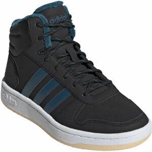 adidas HOOPS MID 2.0 K tmavě modrá 3.5 - Dětská zimní obuv