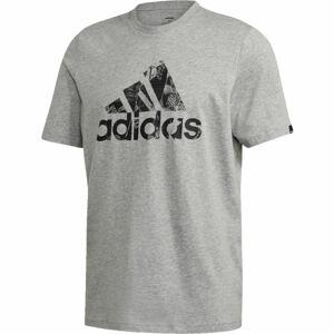 adidas M PHT LG T šedá S - Pánské triko