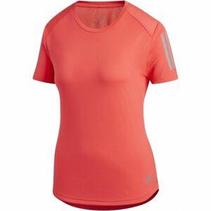 adidas OWN THE RUN TEE červená M - Dámské běžecké tričko