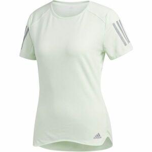 adidas RS SS TEE W zelená S - Dámské běžecké triko
