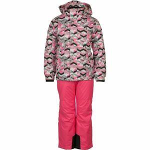 ALPINE PRO BOJORO růžová 104-110 - Dětský lyžařský set