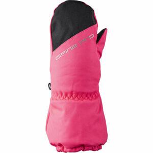 ALPINE PRO DGARO růžová 3 - Dětské zimní rukavice