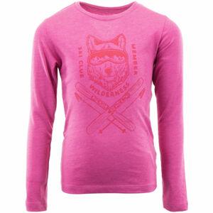 ALPINE PRO ERNO růžová 152-158 - Dětské triko