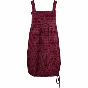 ALPINE PRO FAUNIA vínová XS - Dámské šaty