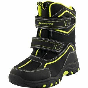 ALPINE PRO MUNDO černá 33 - Dětská zimní obuv