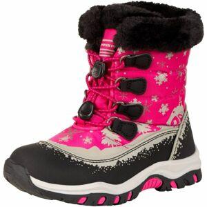 ALPINE PRO TREJO růžová 30 - Dětská zimní obuv