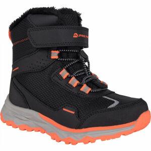 ALPINE PRO VESO černá 31 - Dětská zimní obuv
