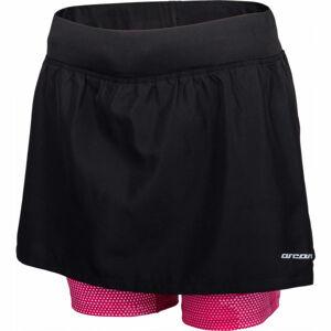 Arcore ARIANA černá L - Dámské běžecké šortky se sukní