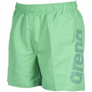 Arena M FUNDAMENTALS LOGO BOXER zelená XXL - Pánské koupací šortky