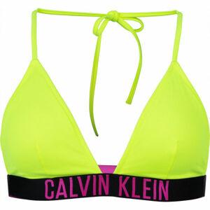 Calvin Klein FIXED TRIANGLE-RP-N  M - Dámský vrchní díl plavek