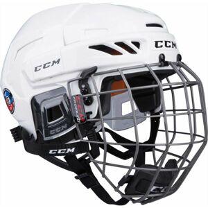 CCM FITLITE 90 COMBO SR bílá (54 - 59) - Hokejová helma