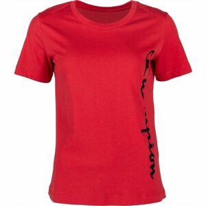 Champion CREWNECK T-SHIRT červená XS - Dámské tričko