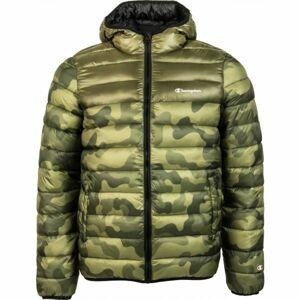 Champion HOODED JACKET zelená M - Pánská zimní bunda