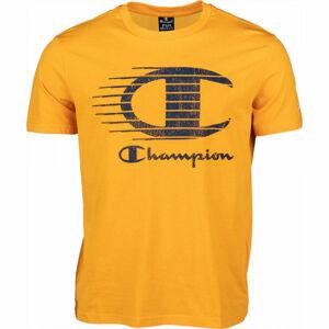 Champion CREWNECK T-SHIRT žlutá S - Pánské tričko