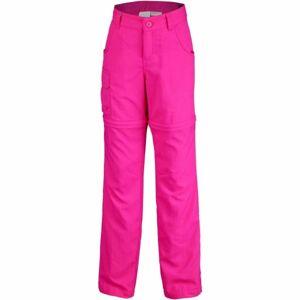 Columbia SILVER RIDGE III CONVT G růžová XXS - Dívčí outdoorové kalhoty