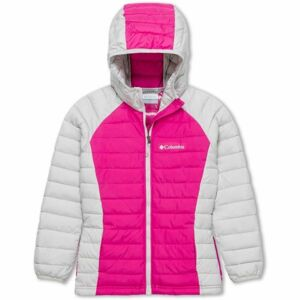 Columbia POWDER LITE GIRLS HOODED JACKET růžová S - Dívčí bunda