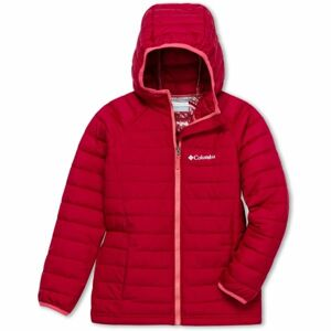 Columbia POWDER LITE GIRLS HOODED JACKET červená XS - Dívčí bunda