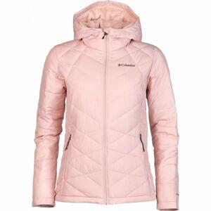 Columbia HEAVENLY HOODED JACKET světle růžová S - Dámská zimní bunda