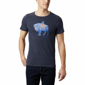Columbia M PINEY FALLS™ GRAPHIC TEE tmavě modrá XXL - Pánské triko