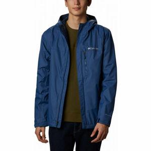 Columbia MENS POURING ADVENTURE modrá L - Pánská outdoorová bunda