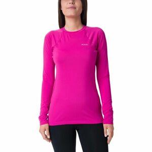Columbia MIDWEIGHT LS TOP W světle růžová M - Dámské funkční termo triko s dlouhým rukávem