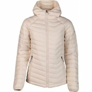 Columbia POWDER LITE HOODED JACKET béžová M - Dámská bunda