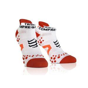 Compressport RUN LO červená T1 - Kompresní ponožky