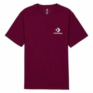 Converse LEFT CHEST STAR CHEVRON SHORT SLEEVE COTTON T-SHIRT černá S - Pánské tričko