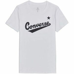 Converse CENTER FRONT LOGO TEE bílá S - Dámské tričko