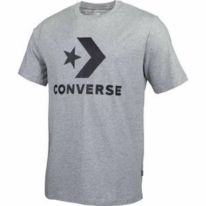Converse STAR CHEVRON TEE šedá XXL - Pánské tričko