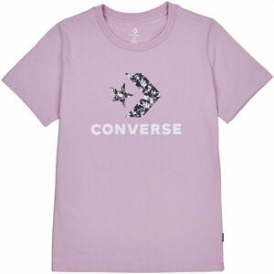 Converse FLORAL STAR CHEVRON GRAPPHIC TEE  M - Dámské tričko